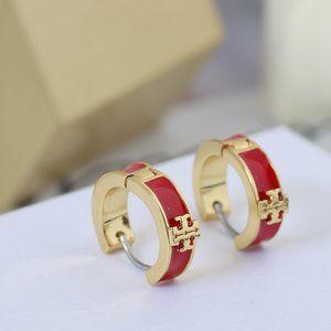 🎁NWT Tory Burch Simple Enamel Earrings